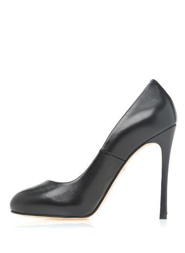 Deri Yüksek Topuklu Stiletto Ayakkabı-Beymen Collection